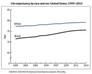 Robert Sampson and Samuel Preston discuss shrinking gap in life expectancy between black and white Americans