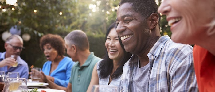 Is a healthy social life a healthier life in general?
