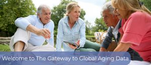 Gateway to a full array of survey data on aging from around the world
