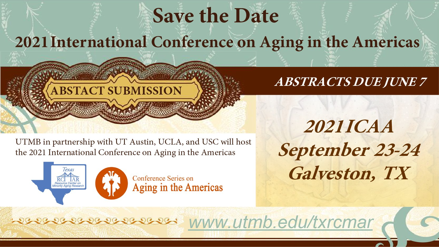 2021 International Conference on Aging in the Americas (Galveston)