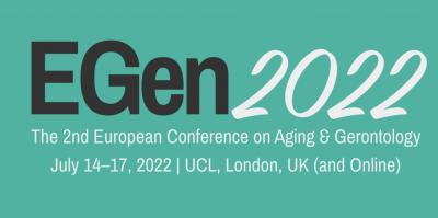 logo 2nd European Conference on Aging & Gerontology (EGen2022)